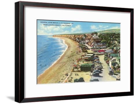 Crystal Cove Beach, Highway 101, Laguna Beach, California--Framed Art Print