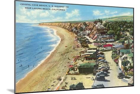 Crystal Cove Beach, Highway 101, Laguna Beach, California--Mounted Art Print