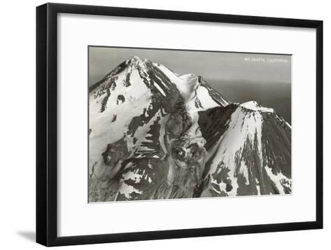 Black and White Mt. Shasta, California--Framed Art Print