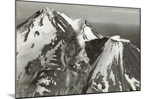 Black and White Mt. Shasta, California--Mounted Art Print