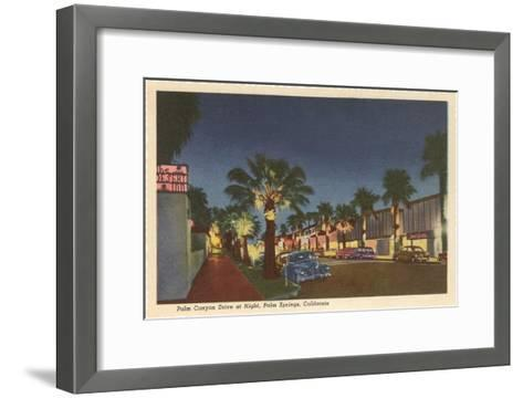 Palm Canyon at Night, Palm Springs, California--Framed Art Print