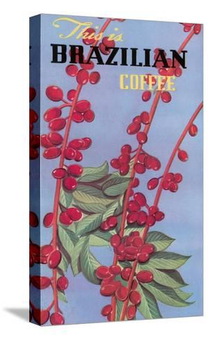 Brazilian Coffee, Beans--Stretched Canvas Print