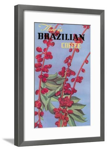 Brazilian Coffee, Beans--Framed Art Print