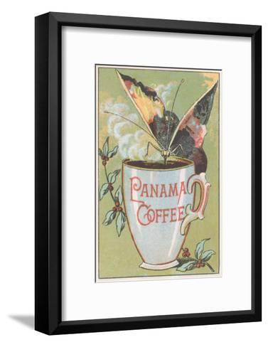Butterfly Drinking Panama Coffee--Framed Art Print