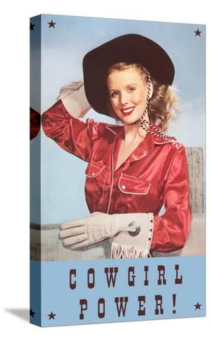 Cowgirl Power, Silk Shirt and Gloves--Stretched Canvas Print