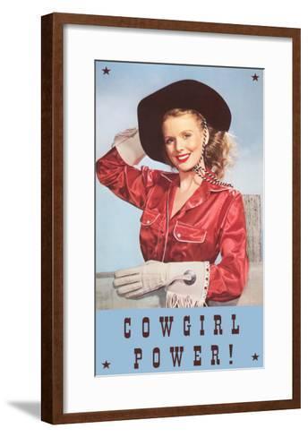 Cowgirl Power, Silk Shirt and Gloves--Framed Art Print