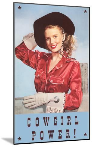 Cowgirl Power, Silk Shirt and Gloves--Mounted Art Print