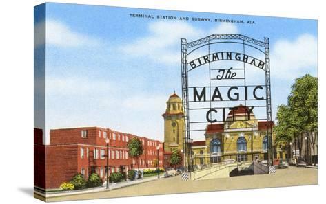 Terminal Station, Birmingham, Alabama--Stretched Canvas Print