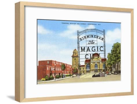 Terminal Station, Birmingham, Alabama--Framed Art Print