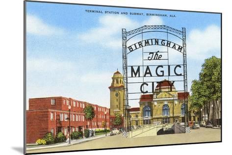 Terminal Station, Birmingham, Alabama--Mounted Art Print