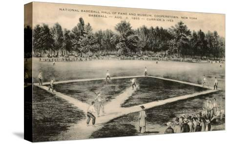 Baseball Game by Currier and Ives--Stretched Canvas Print