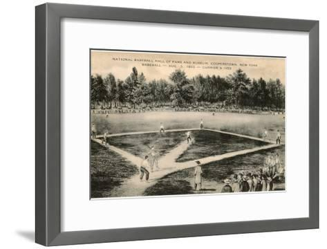 Baseball Game by Currier and Ives--Framed Art Print