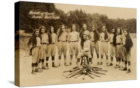 House of David Junior Baseball Team--Stretched Canvas Print