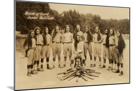 House of David Junior Baseball Team--Mounted Art Print