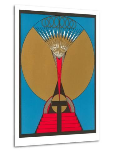 Geometric Art Deco--Metal Print