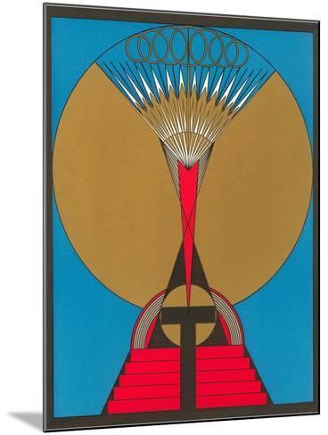 Geometric Art Deco--Mounted Art Print