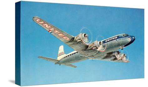 Propeller Plane--Stretched Canvas Print
