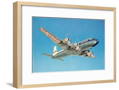Propeller Plane--Framed Art Print