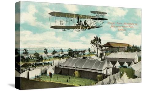 Wright Brothers Biplane, Sedalia, Missouri--Stretched Canvas Print
