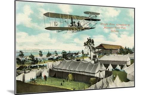 Wright Brothers Biplane, Sedalia, Missouri--Mounted Art Print