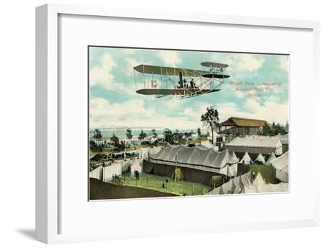 Wright Brothers Biplane, Sedalia, Missouri--Framed Art Print