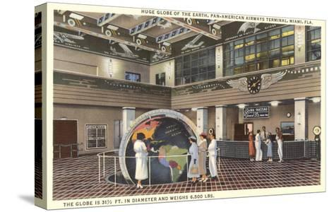 Globe at Pan American Terminal--Stretched Canvas Print