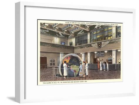 Globe at Pan American Terminal--Framed Art Print