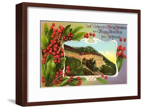 Christmas Greetings from Mt. Tamalpais, California--Framed Art Print