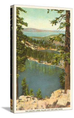 Lakes Near Lake Tahoe--Stretched Canvas Print
