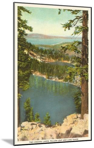 Lakes Near Lake Tahoe--Mounted Art Print