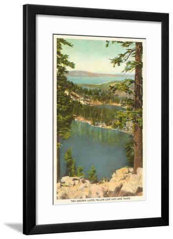 Lakes Near Lake Tahoe--Framed Art Print