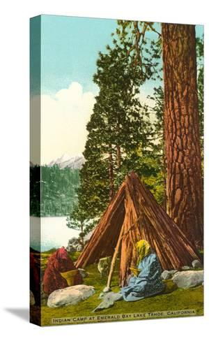Emerald Bay Indian Camp, Lake Tahoe--Stretched Canvas Print