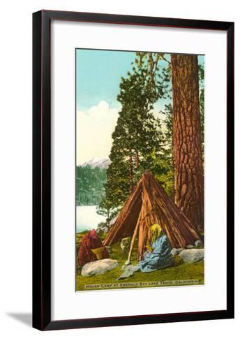Emerald Bay Indian Camp, Lake Tahoe--Framed Art Print