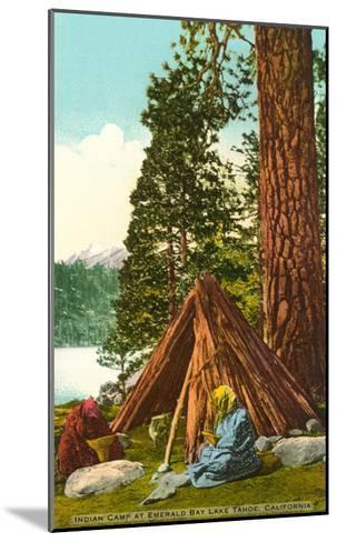 Emerald Bay Indian Camp, Lake Tahoe--Mounted Art Print