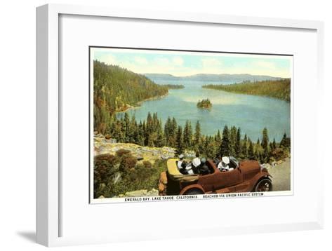 Emerald Bay, Lake Tahoe--Framed Art Print