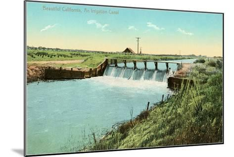California Irrigation Canal--Mounted Art Print