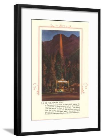 Fire Fall, Glacier Point, Yosemite--Framed Art Print