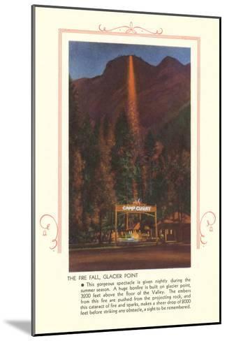 Fire Fall, Glacier Point, Yosemite--Mounted Art Print