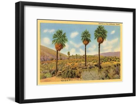 Palms in the California Desert--Framed Art Print