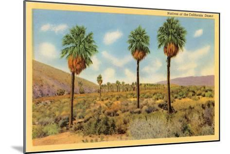 Palms in the California Desert--Mounted Art Print