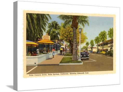 Street in Palm Springs, California--Stretched Canvas Print