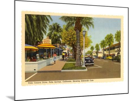 Street in Palm Springs, California--Mounted Art Print
