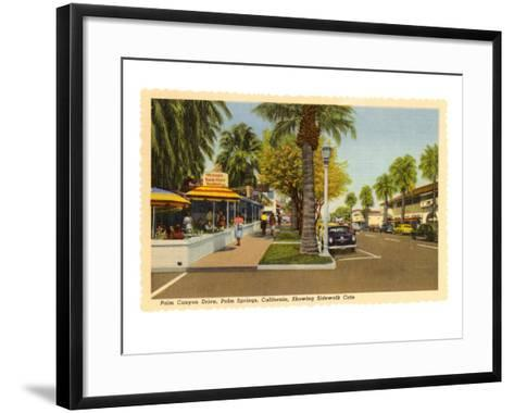 Street in Palm Springs, California--Framed Art Print