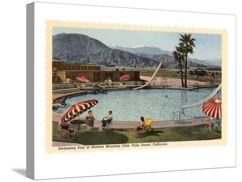 Hotel Swimming Pool, Palm Desert, California--Stretched Canvas Print