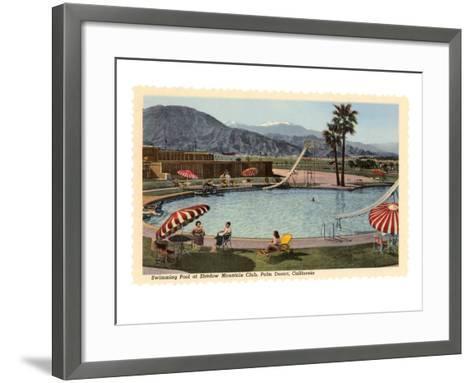Hotel Swimming Pool, Palm Desert, California--Framed Art Print