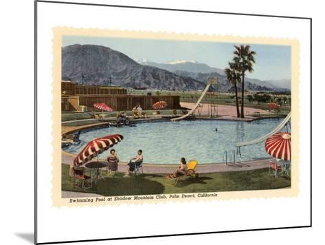 Hotel Swimming Pool, Palm Desert, California--Mounted Art Print
