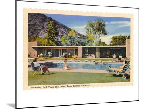 Hotel Swimming Pool, Palm Springs, California--Mounted Art Print