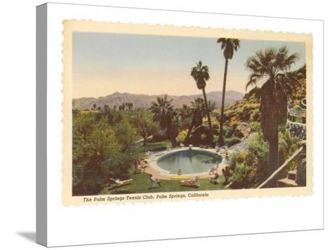 Hotel Swimming Pool, Palm Springs, California--Stretched Canvas Print
