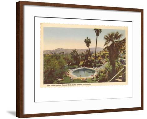 Hotel Swimming Pool, Palm Springs, California--Framed Art Print