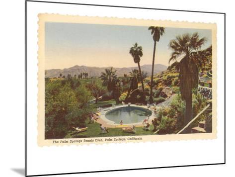 Hotel Swimming Pool, Palm Springs, California--Mounted Art Print